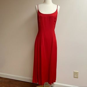 Dawn Joy Fashions Red Lace-Up Dress